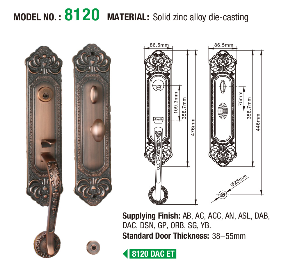 quality zinc alloy door lock for wood door branded on sale for indoor-5