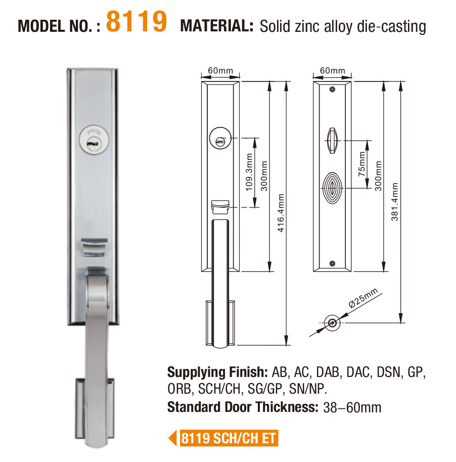 online 5 mortice lock european with latch for shop-5