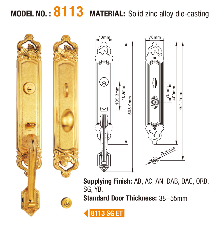 product-Entry Mortise Grip Handle Lock Set With Thumb Turn-FUYU-img