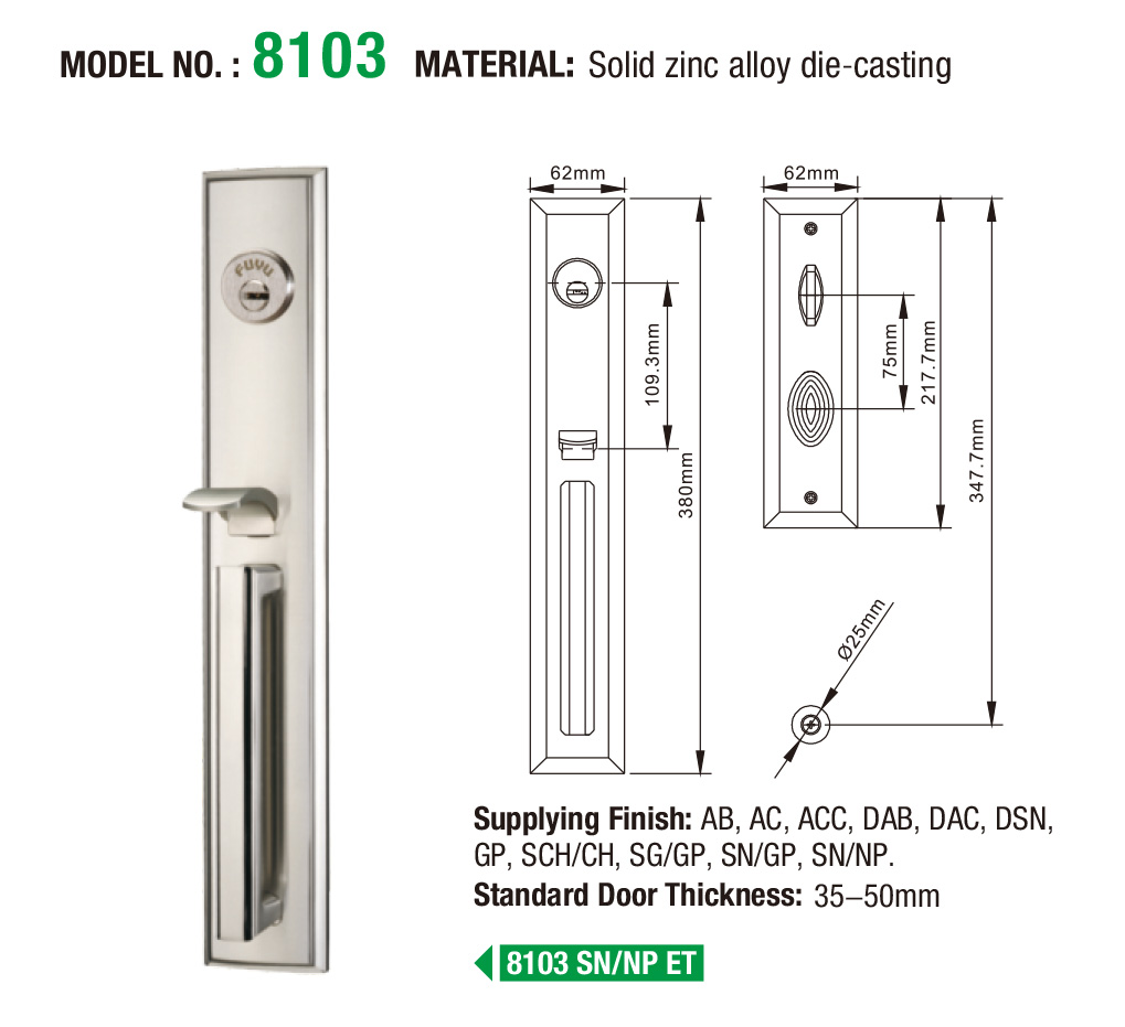 oem multipoint lock supplier for residential-9