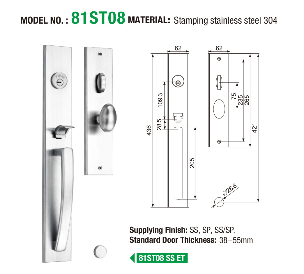 electric aluminium door lock handleset extremely security for wooden door-5
