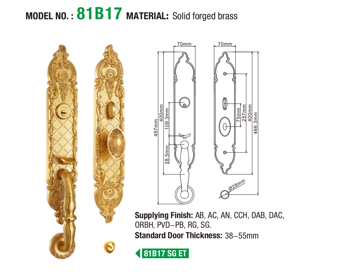 FUYU apartment brass lock on sale for wooden door-5