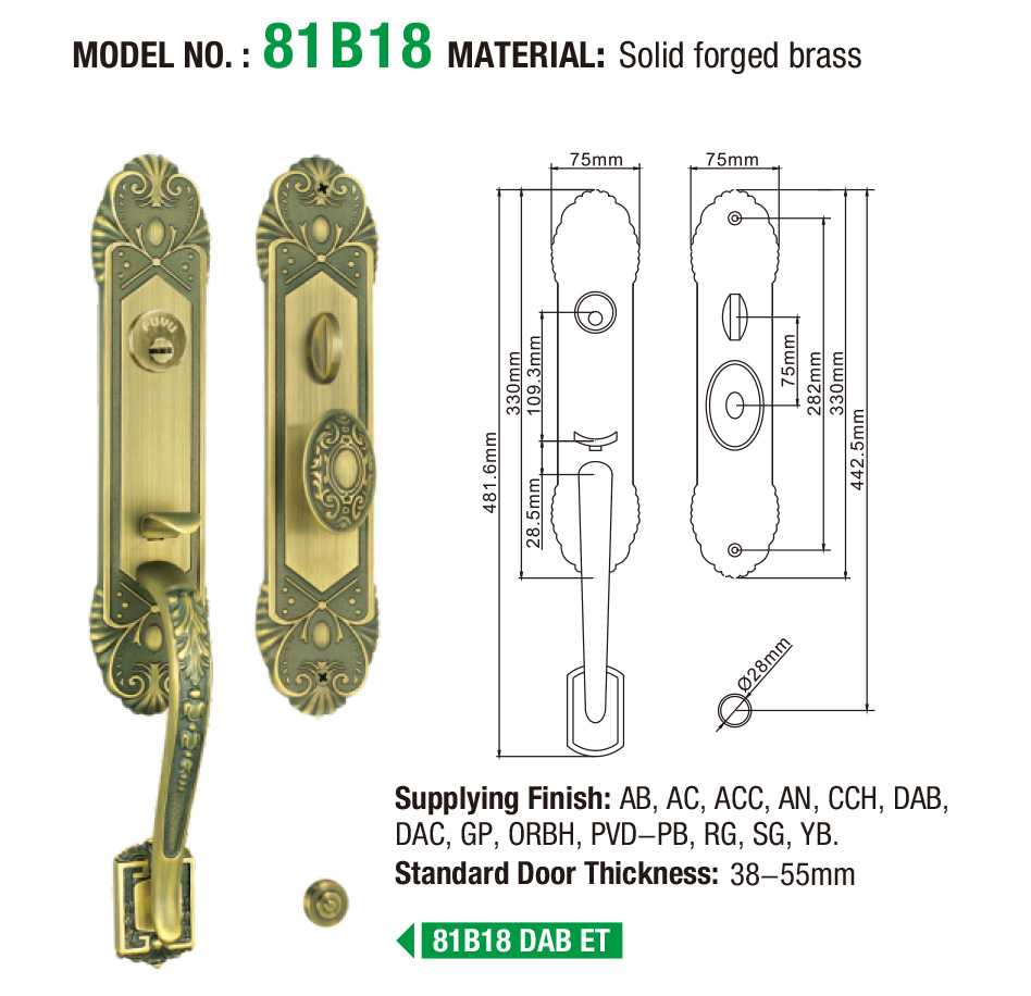 high -tech brass bathroom door handles with lock lifetime meet your demands for mall-5