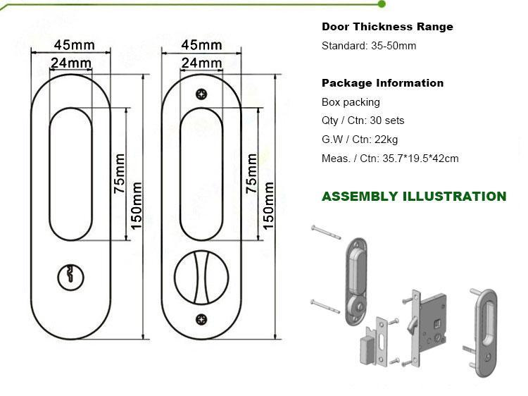 FUYU high security american style zinc alloy door lock with latch for mall