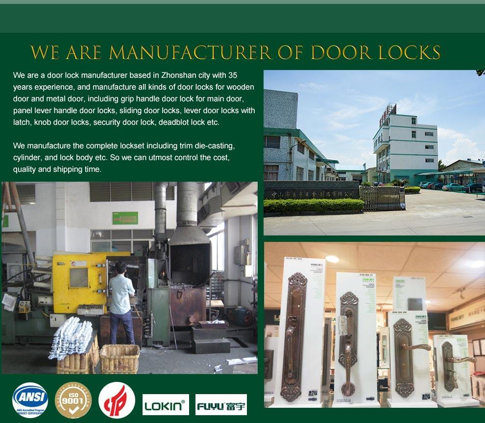 FUYU mortise type lock with international standard for wooden door