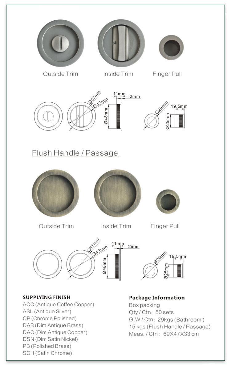 FUYU long zinc alloy entrance door lock with latch for indoor-2