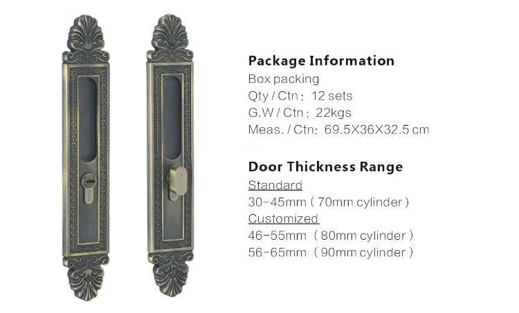 custom heavy duty sliding door lock supplier for mall-1