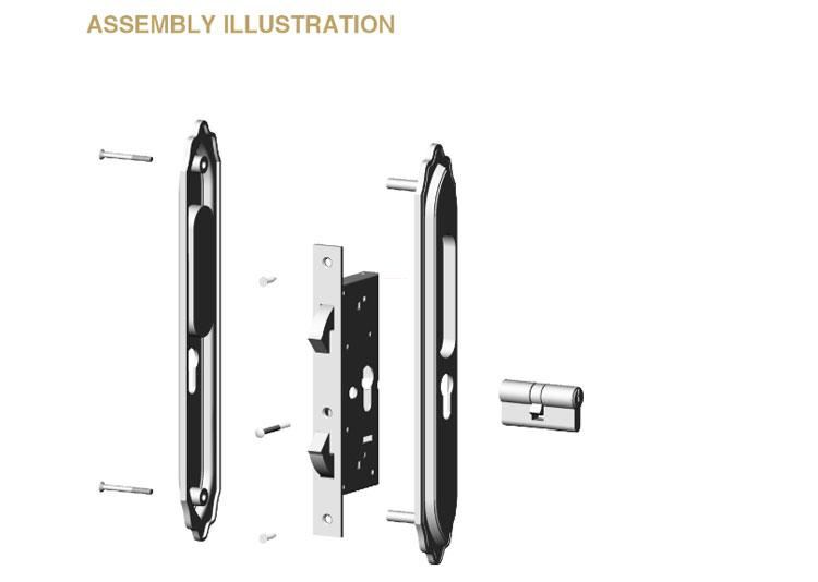 custom heavy duty sliding door lock supplier for mall-2