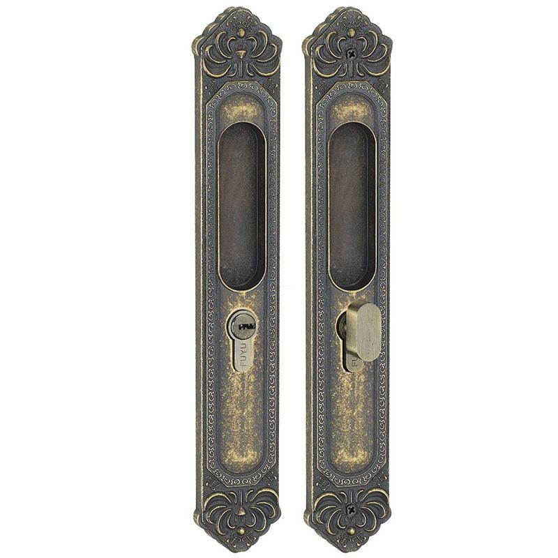 Heavy duty sliding door lock