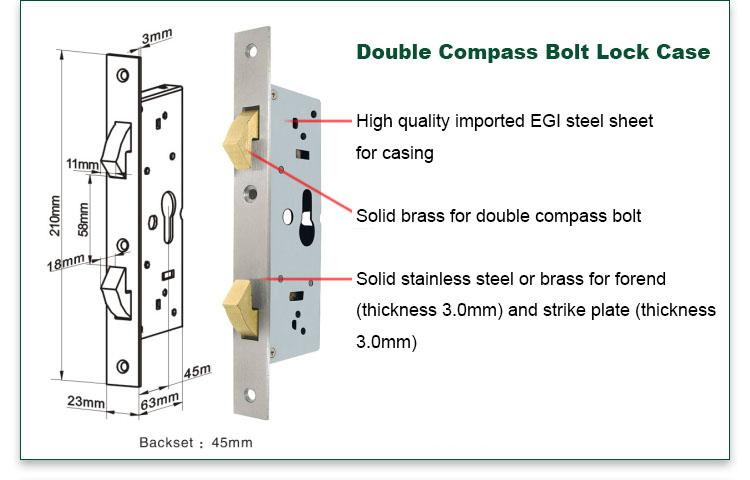 FUYU online zinc alloy door lock for wood door on sale for mall-2