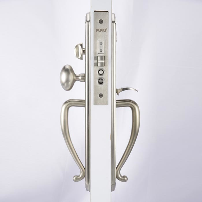 High security big size panel handle door lock for entry door