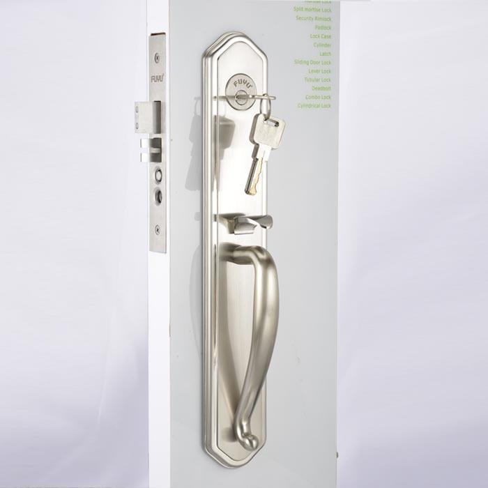 High security big size panel handle door lock for entry door