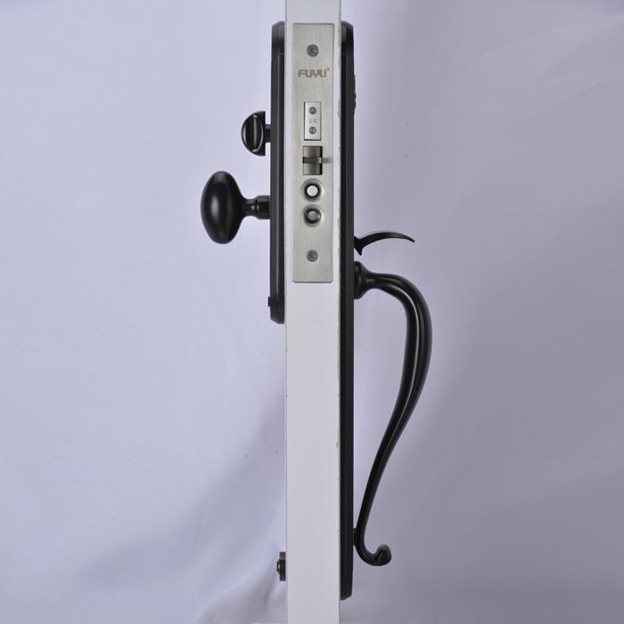 Black door lock