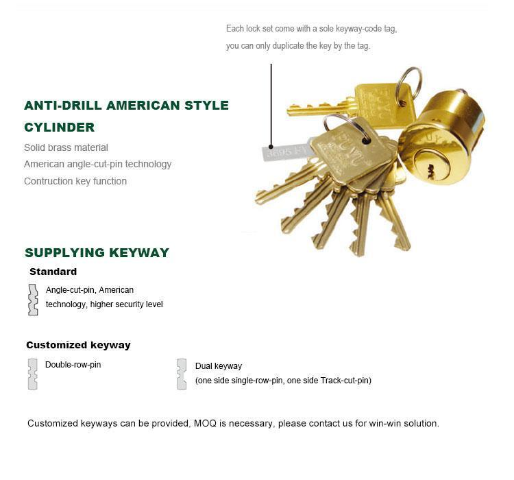 FUYU high -tech five lever mortice lock with latch for mall
