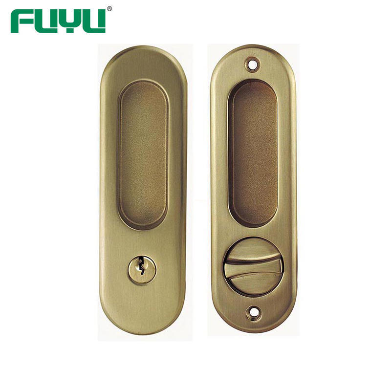 Zinc alloy sliding door lock with hook and key