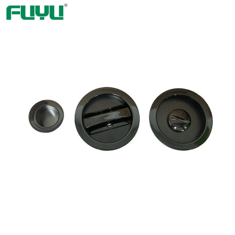 Sliding door handle with lock