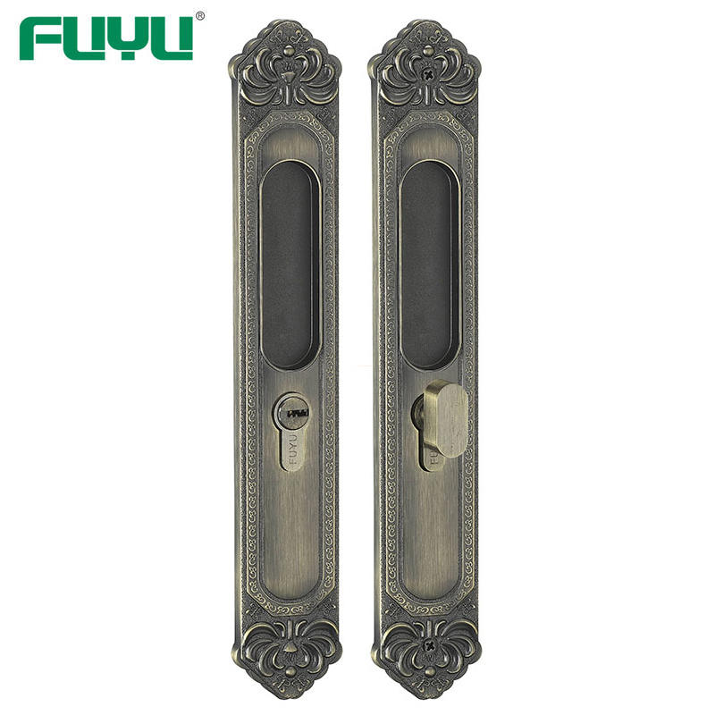 Heavy duty sliding door lock