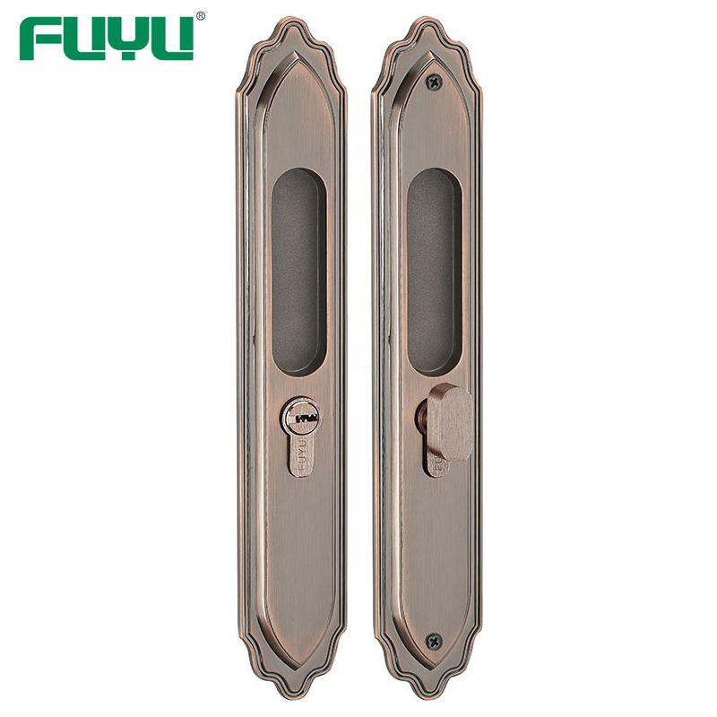 Wooden door slide door lock