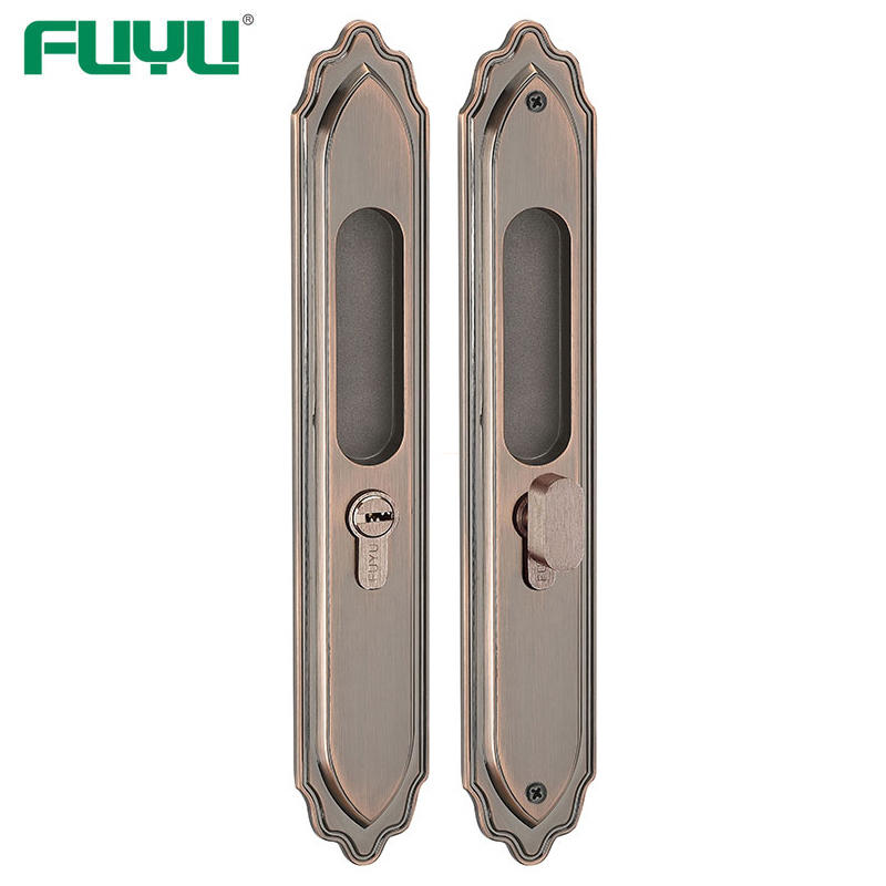 Wooden door slide door lock