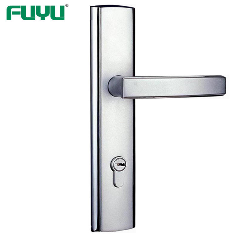 Chrome finish handle door lock