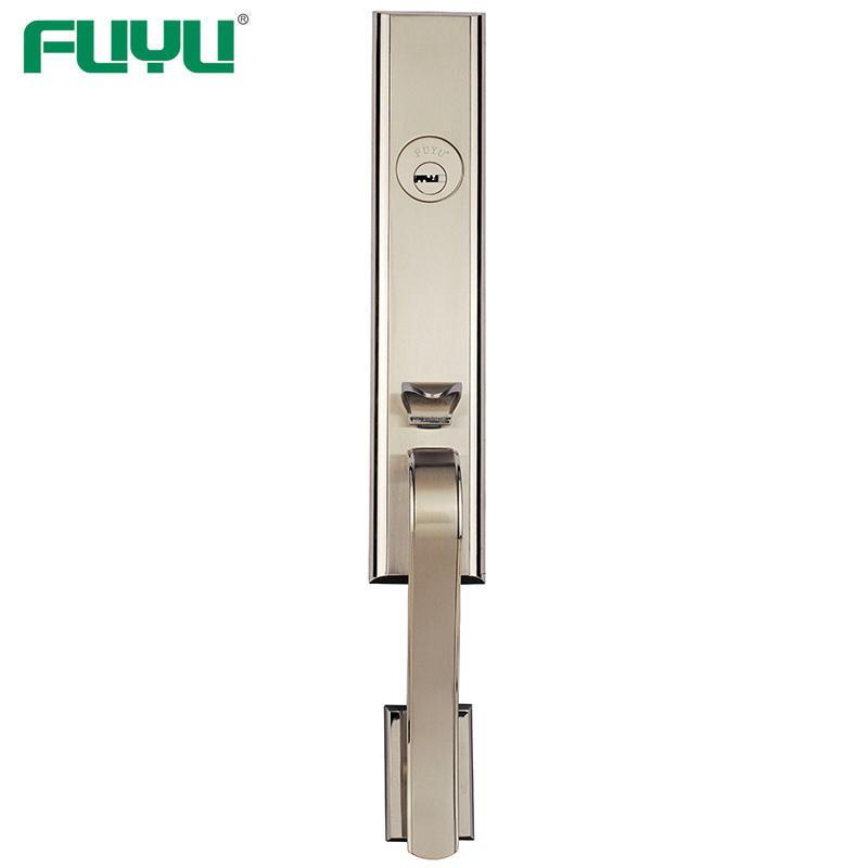 Black Color Zinc Alloy Plain Modern Style Big Handle Door Lock