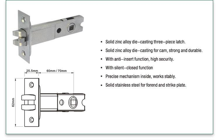 FUYU online 5 lever lock with latch for entry door