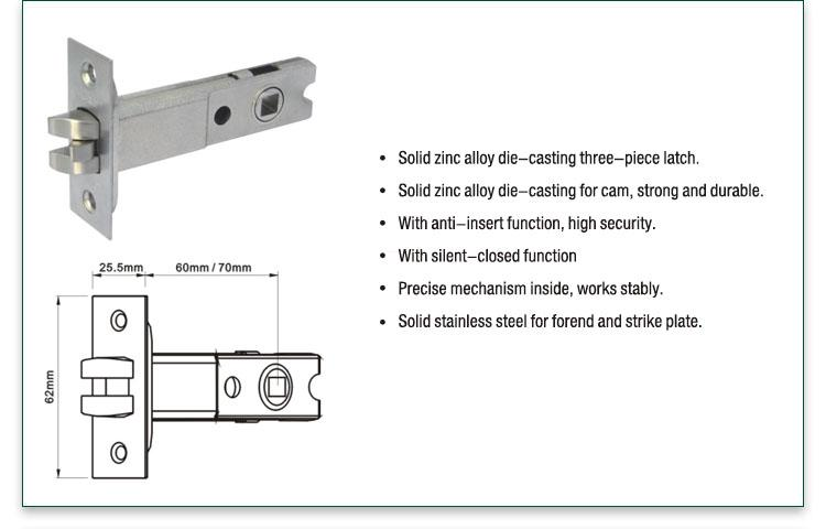 FUYU cylindrical lever locks extremely security for entry door-3