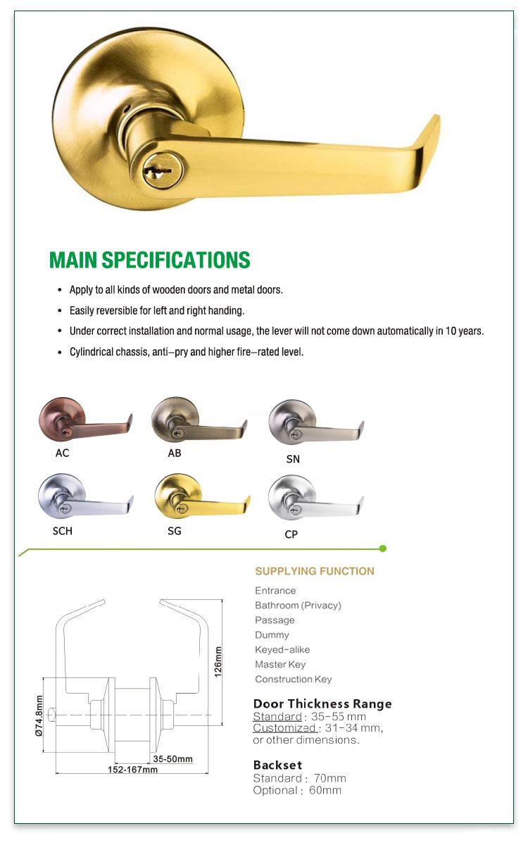 FUYU custom apartment door locks with latch for mall-1