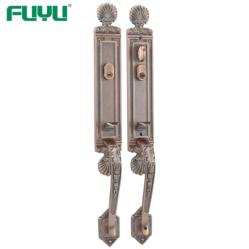 Both side security entrance lock set