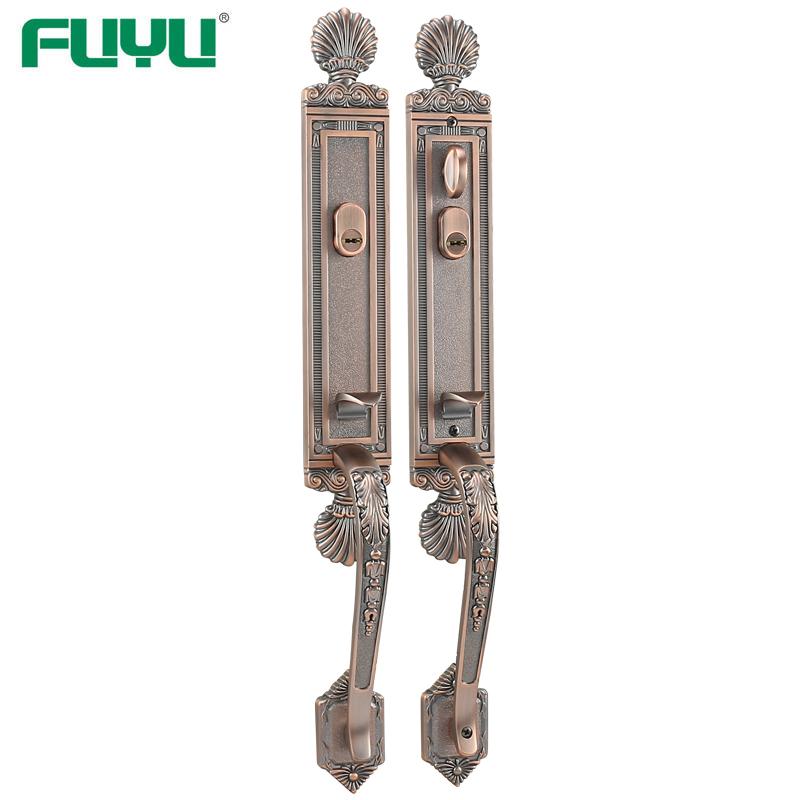 Both side security entrance lock set