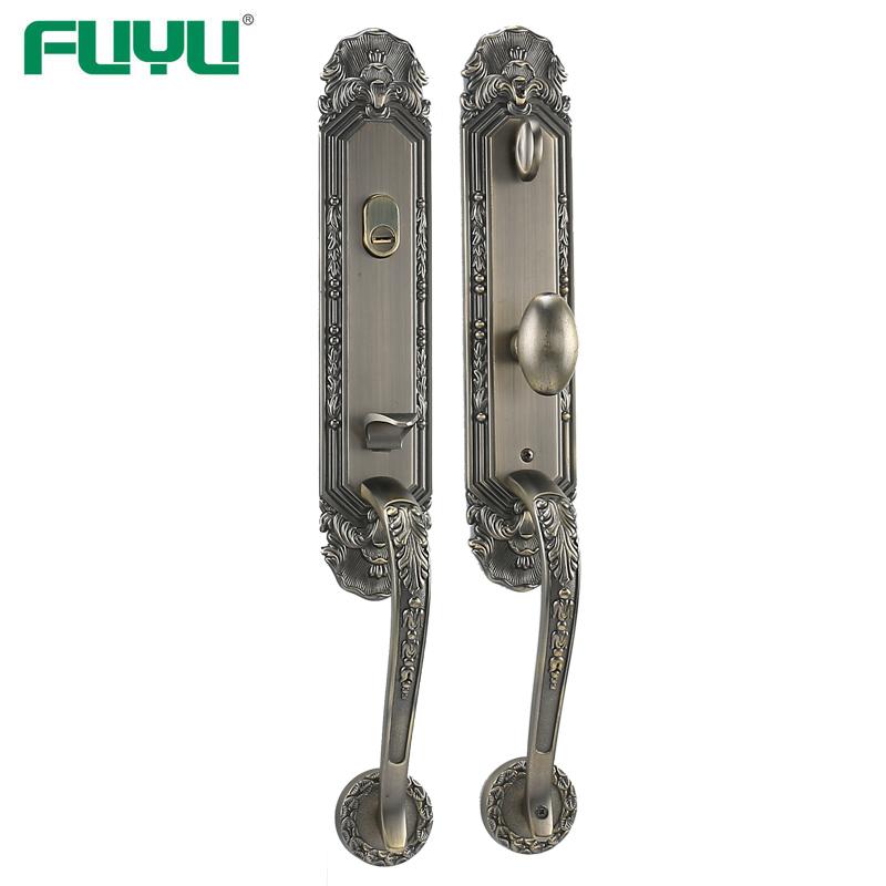 Antique brass front door lock