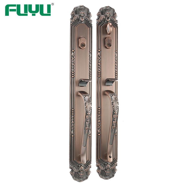 Antique copper long trim thumb door lock