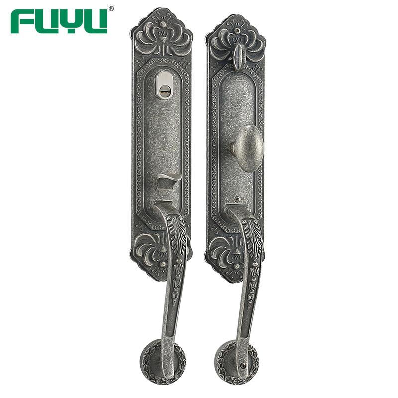 Antique silver big knob house door lock