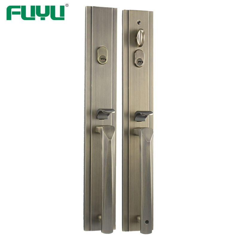 Bothside cylinder entry handle door lock set