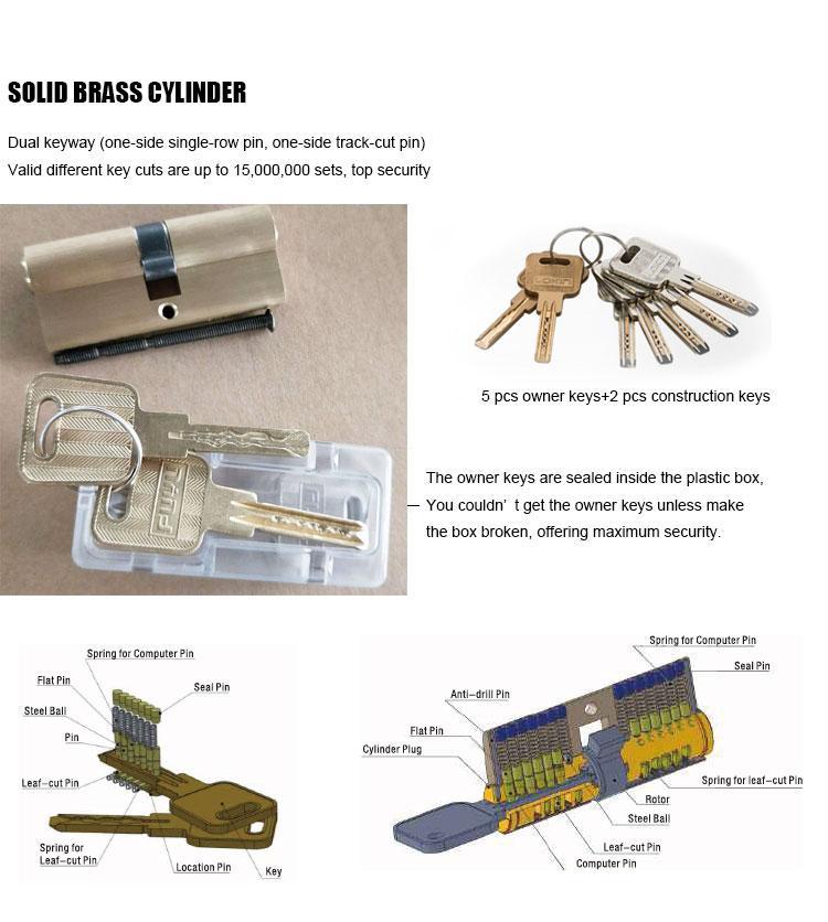 FUYU oem zinc alloy mortise door lock with latch for indoor-3