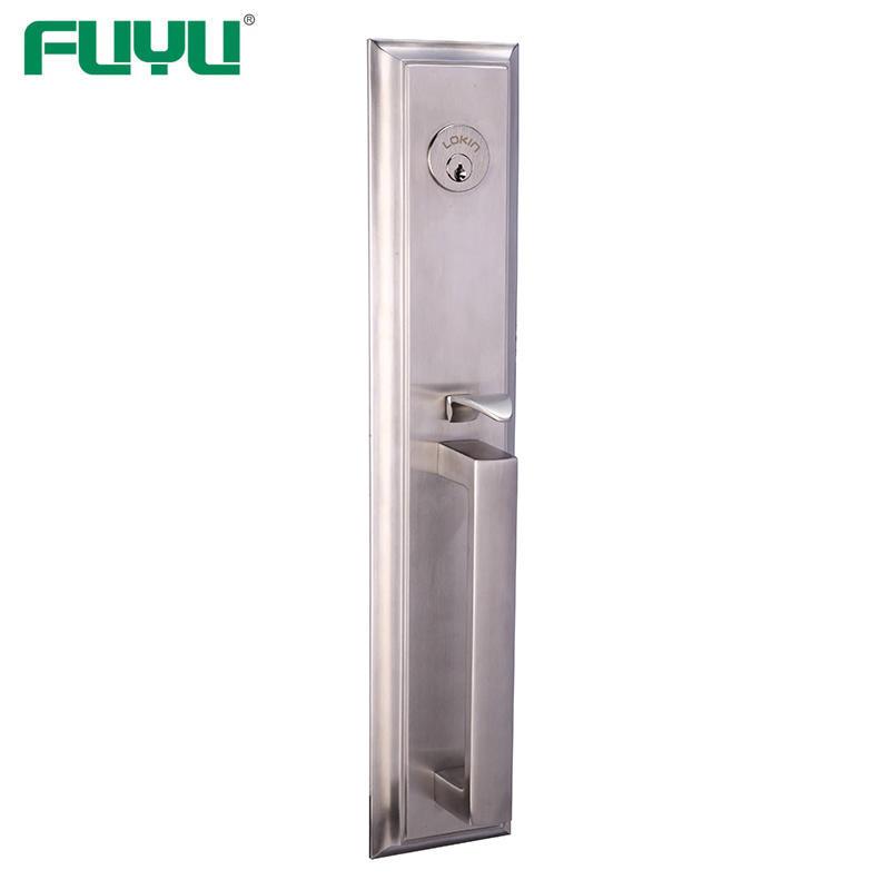 Heavy duty loft stainless steel front door lock