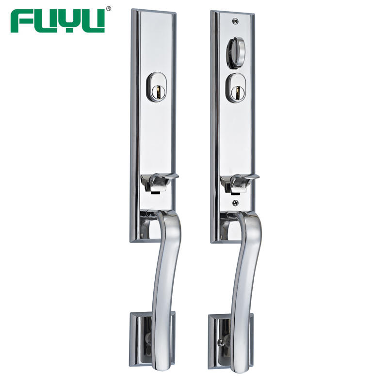 Stainless steel high security main door handle lock