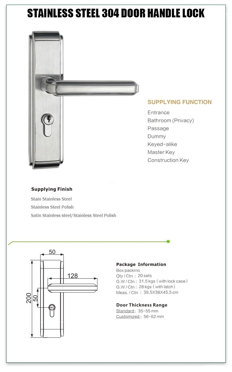 FUYU mortise office door lock with international standard for residential-1