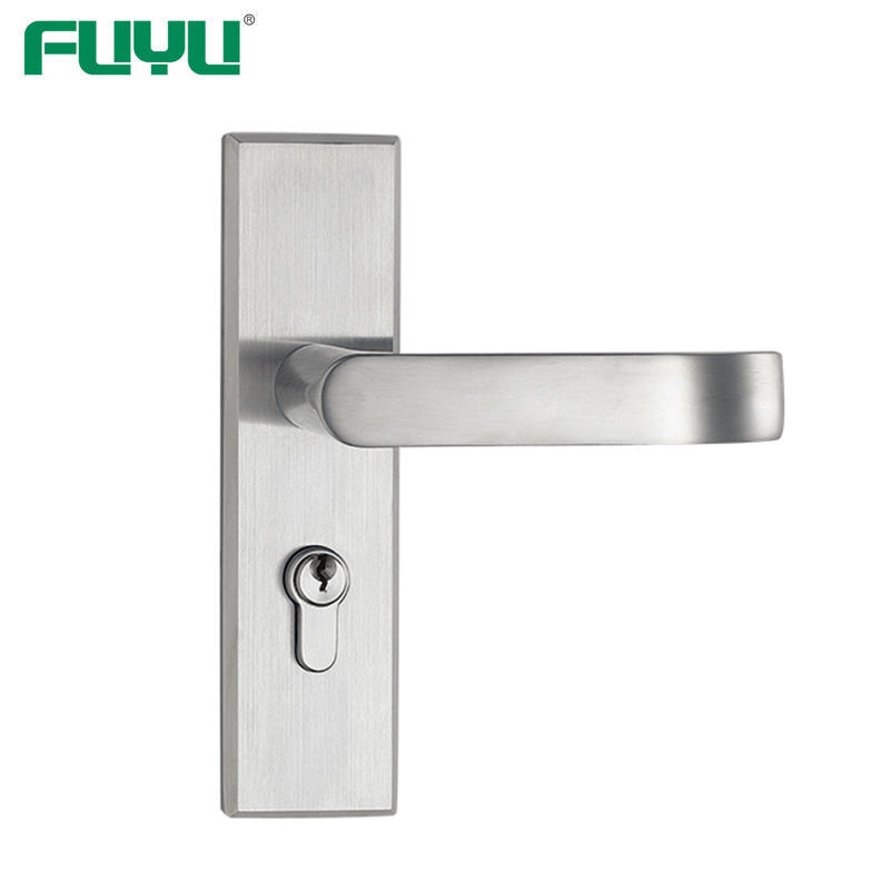 Stainless steel lever handle security door lock