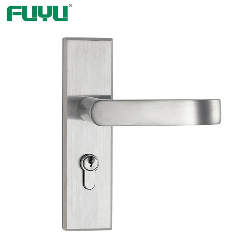 Stainless steel lever handle security door lock