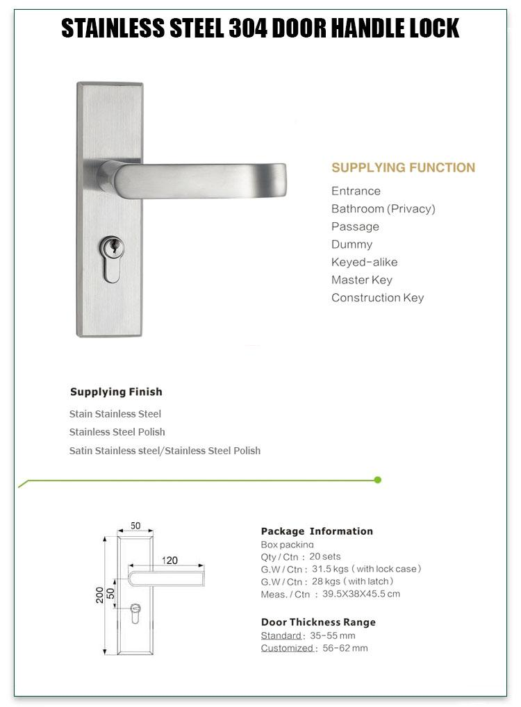 oem custom stainless steel door lock stainless on sale for home-1