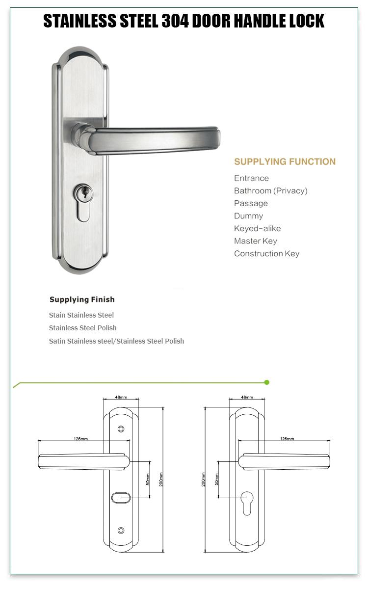 FUYU security stainless steel handle door locks on sale for residential-1