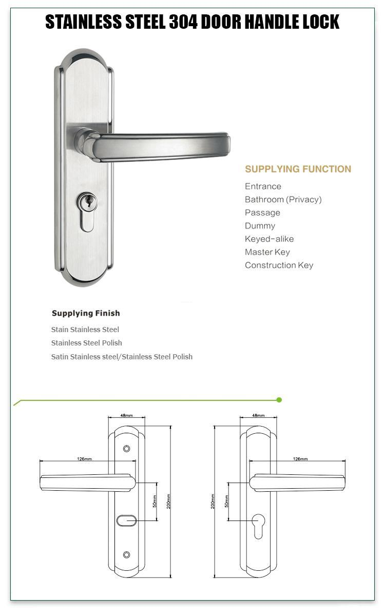 FUYU security stainless steel handle door locks on sale for residential