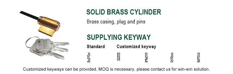 FUYU single aluminium door lock with international standard for shop-4