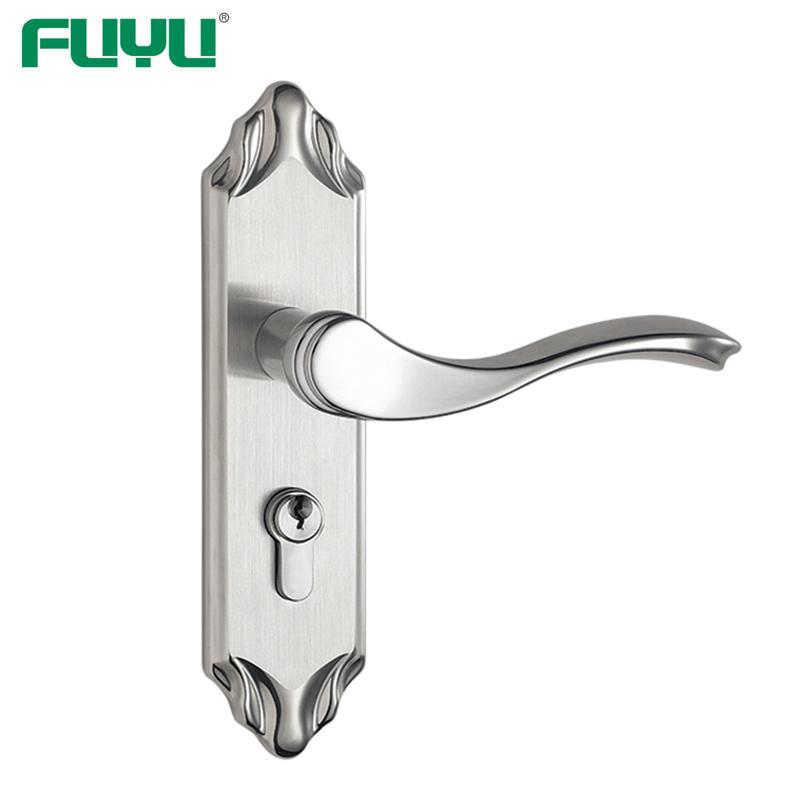 Metal bathroom lever handle lock set