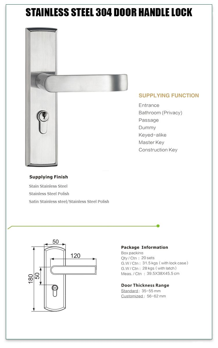 FUYU knob stainless door lock extremely security for shop-1