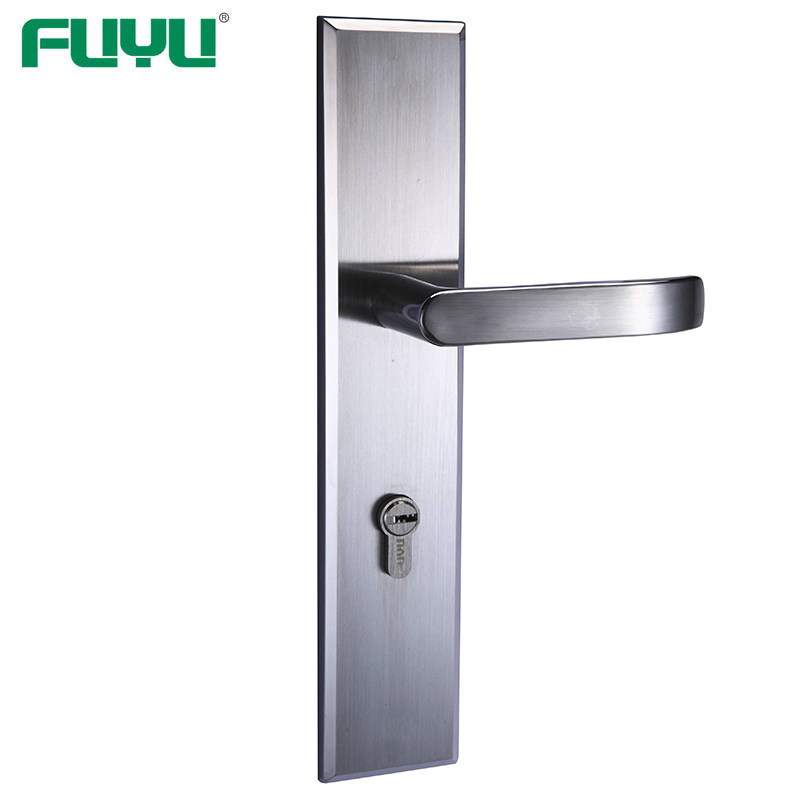 Apartment entrance mortise door handle with lock