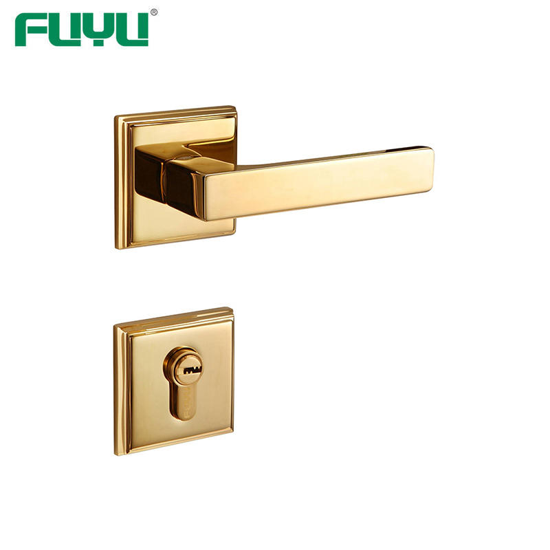 Solid brass rosette lever handle door lock