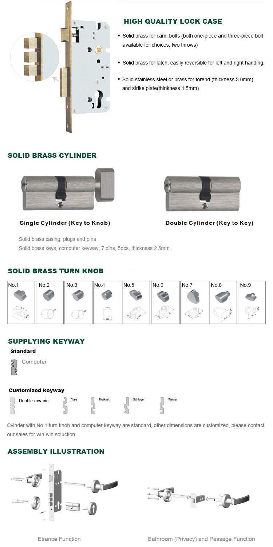 FUYU handle flush door lock on sale for home