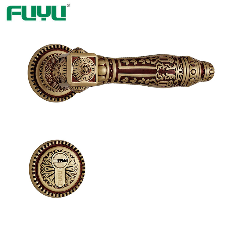Rose gold lever handle lock